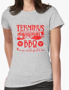 Terminus BBQ Funny Zombie Apocalypse Womens Fitted T-Shirt