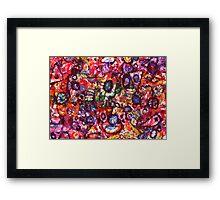 Pink Paradise Twirls Framed Print
