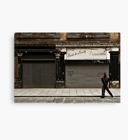 Boys on the wrong side of town Canvas Print