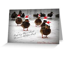 Baby it's cold outside...............................! Greeting Card