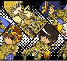 Saint Seiya: The Gold Saints (Wide ver.) by addictionado