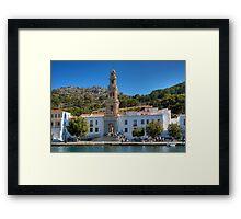 The Monastery on Symi Framed Print