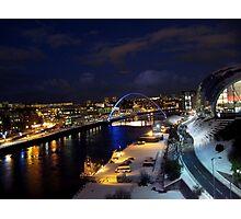 A Cold Tyneside Night Photographic Print