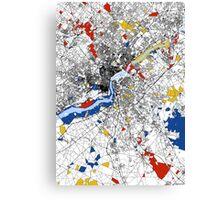 Philadelphia Mondrian map Canvas Print
