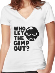 Who Let the Gimp Out Women's Fitted V-Neck T-Shirt