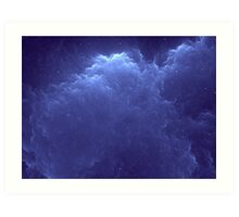 Blue Clouds and Stars Art Print