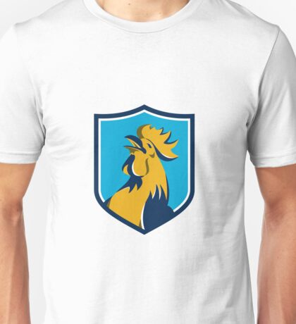 Chicken Rooster Crowing Crest Retro Unisex T-Shirt
