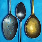 Spoonin&#x27; Around - kitchen art utensils by LindaAppleArt