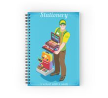 Stationer Poster with Chancellery Spiral Notebook
