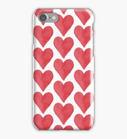 Cute watercolor hearts iPhone Case/Skin