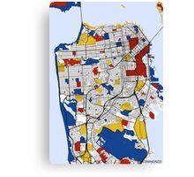 San Francisco Mondrian map Canvas Print