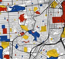 San Francisco Mondrian map Sticker