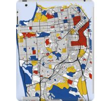 San Francisco Mondrian map iPad Case/Skin