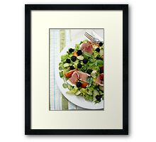 Blackberry Prosciutto Salad Framed Print