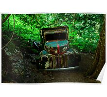 Old Mining Truck Poster