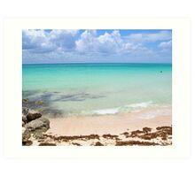 Beach Paradise - Playa del Carmen, Mexico Art Print