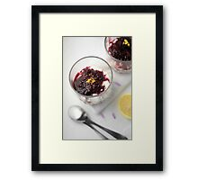 Berry cheesecake Framed Print