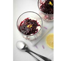 Berry cheesecake Photographic Print