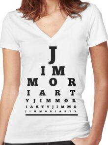 Jim Moriarty T-shirt Women's Fitted V-Neck T-Shirt