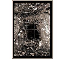Grated Mine Shaft Photographic Print