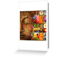 buddha face Greeting Card
