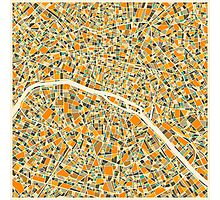 PARIS MAP Photographic Print