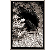 Abandoned Mine Shaft Photographic Print