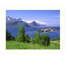 Beautiful island in Norway Art Print