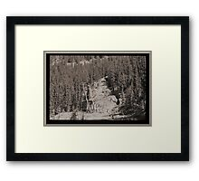 Abandoned Mine Structure With Collapsed Shaft Framed Print
