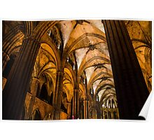 Barcelona - The Cathedral  Poster