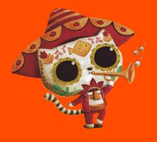 The Day of the Dead Cute Cat El Mariachi Kids Clothes