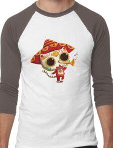 The Day of the Dead Cute Cat El Mariachi Men's Baseball ¾ T-Shirt
