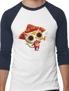 The Day of the Dead Cute Cat El Mariachi Men's Baseball ¾ T-Shirt