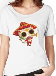 The Day of the Dead Cute Cat El Mariachi Women's Relaxed Fit T-Shirt