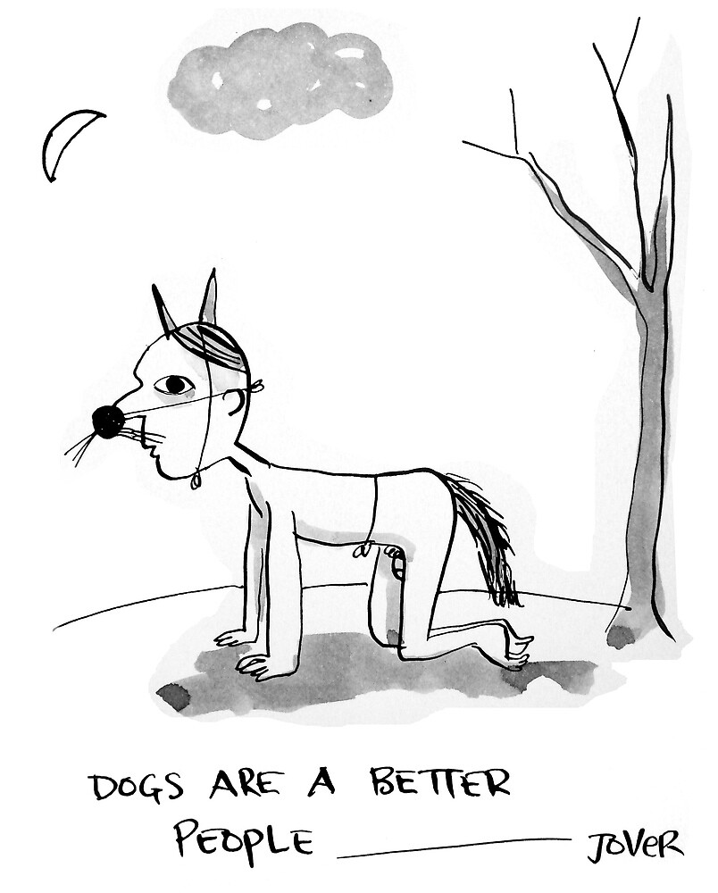 dogs/people by Loui  Jover