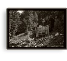 Abandoned Mine Structure And Debris Canvas Print