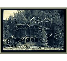 Abandoned Mine Structure Photographic Print