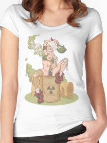 Tank Girl smells like toxic waste Women's Fitted Scoop T-Shirt