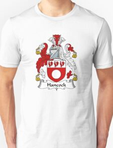 Coat of arms (family crest) for last-name or surname Hancock (e) . Heraldry banner for your name. T-Shirt