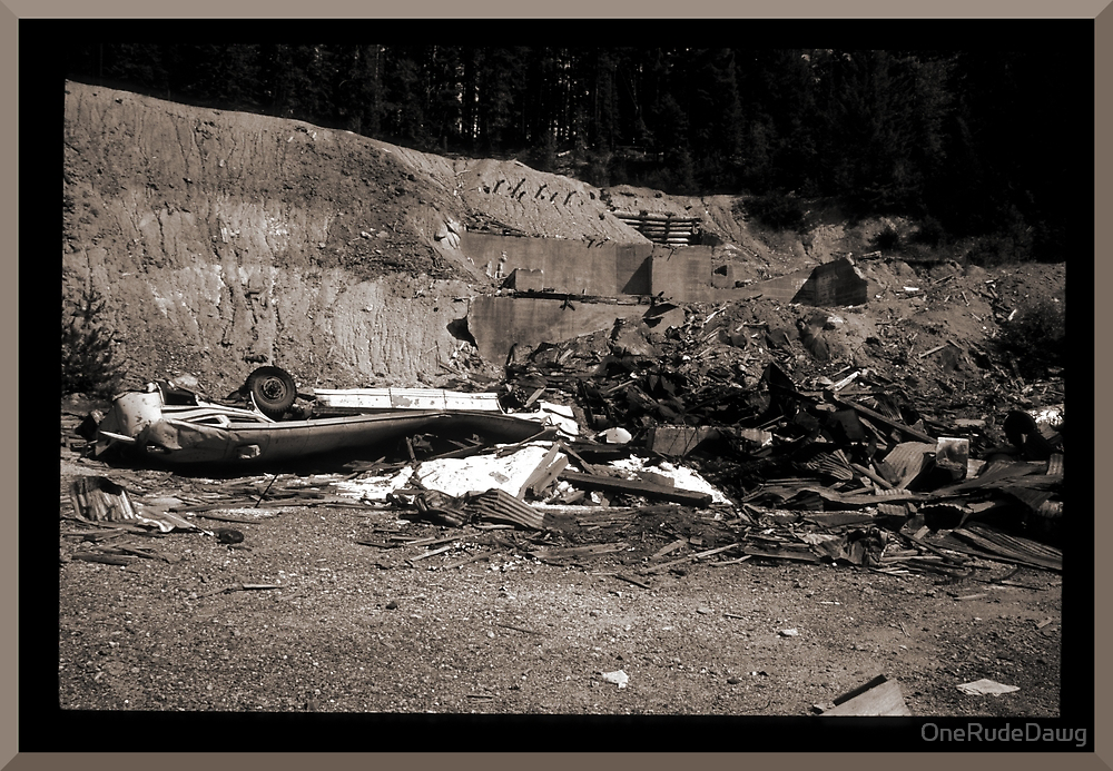 Mine Debris With Smashed Bus by OneRudeDawg