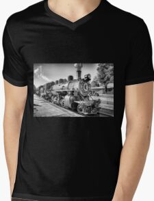 Saturated Steam In B&W Mens V-Neck T-Shirt