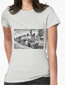 Saturated Steam In B&W Womens Fitted T-Shirt