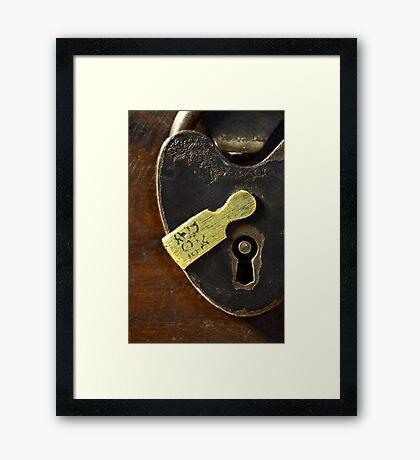 Heart-Shaped Lock Framed Print