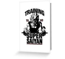 Training to go Super Saiyan | Dragon Ball Greeting Card