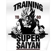 Training to go Super Saiyan   Dragon Ball Poster