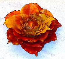 Autumn apple leaf rose sculpture by theBetty