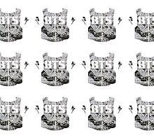 BTS/Bangtan Sonyeondan - Flowered Logo by skiesofaurora