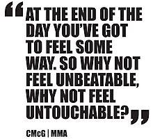 Conor McGregor - Quotes [Unbeatable] Photographic Print