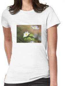 Springtime Anemone Womens Fitted T-Shirt