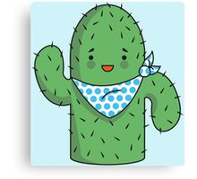Mr J.G Cactus (sky) Canvas Print